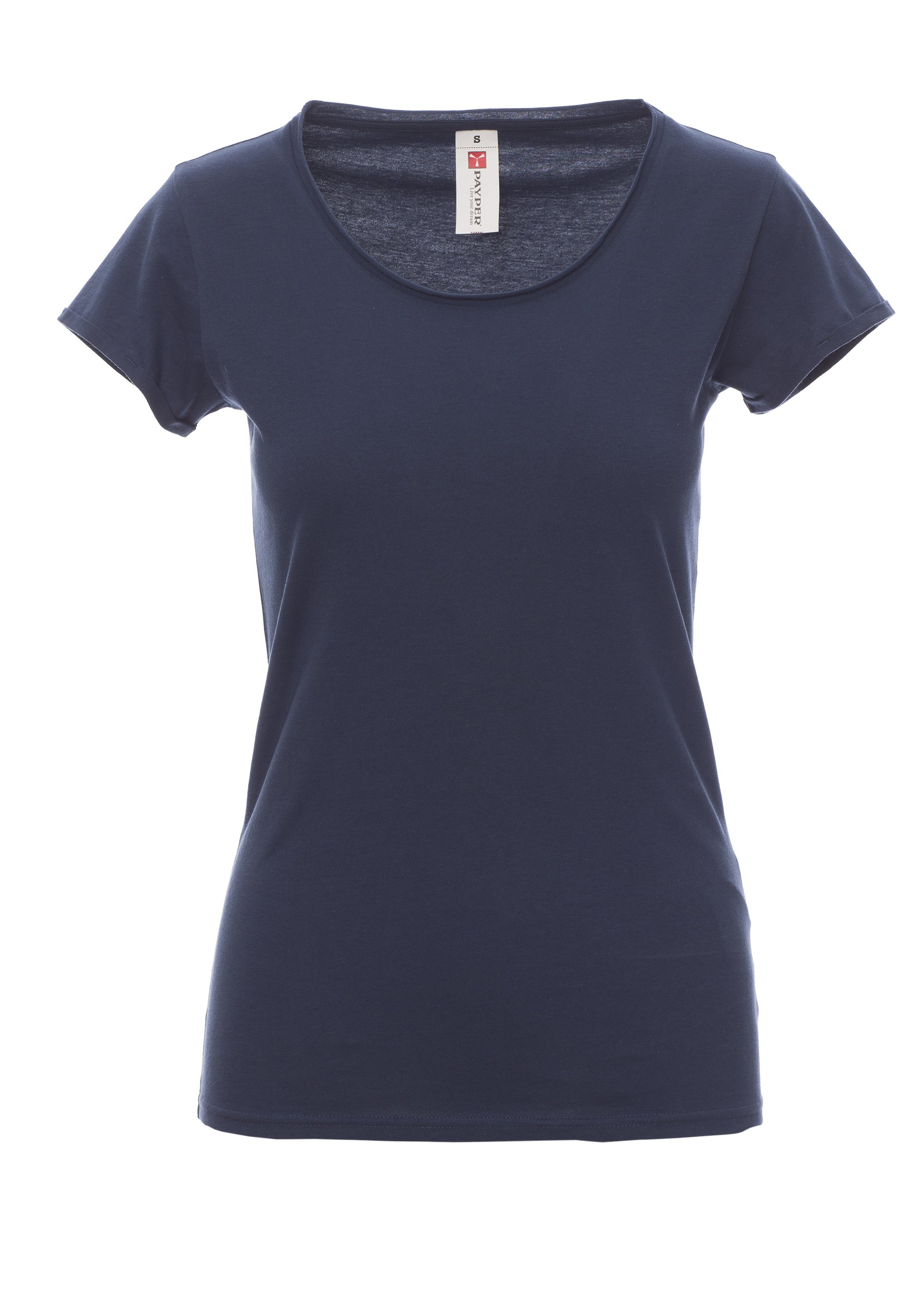 71f41bc36129c SOUND LADY T-shirts sfiancata da donna manica corta con scollo ampio